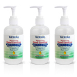 TriDerma Moisturizing Hand Sanitizer-62% Ethyl Alcohol-8oz Pump-3/Pack